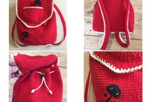 Crochet backpack for kids