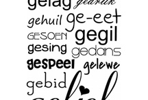 Afrikaanse sayings