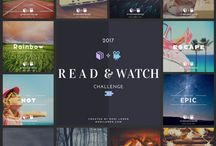 The 2017 Read & Watch Challenge / Each month I'm reading a book and watching a movie/TV show that match the theme word of the month. Join the challenge!