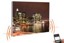 Audioacoustic / Tableau AudioAcousticArt Tableau photographique intégrant une chaîne haute fidélité pilotable à distance d un téléphone, tablette ou ordinateur. hauts parleurs Fostex 2x65w