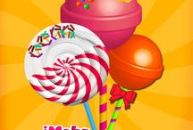 iMake Lollipops App / iMake Lollipop is another Fun App From Cubic Frog Apps! Make a lollipop from Scratch, Decorate it and Share it!  Many different flavors, many different styles! Lollipop, Swirl Lollipops, Dum Dum Lollipops and Make your own Lollipops!