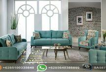 Set Love Seat Sofa Terbaru / Set Sofa Ruang Tamu yang diproduksi dari Kayu Mahony ataupun Kayu Jati dengan desain modern