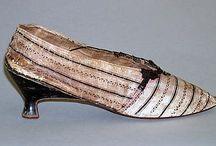XVIII chausures / XVIII w. buty 18th century women shoes