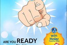 Play Higher Win Haier | #HaierJackpot / Play Haier Win Haier Festive Campaign