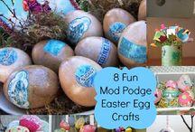 Mod Podge Easter Egg Crafts