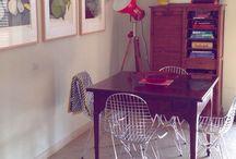 Mid century interiors & exteriors / Interior and exterior fittings with vintage and mid century furnitures.