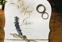 wedding invitations / Ιδέες για προσκλητήρια γάμου.