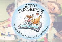 Great Expectations / NBP and Bridge Multimedia launched a new program called: Great Expectations, Bringing Picture Books to Life for Blind Kids