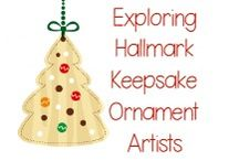 Exploring Hallmark Keepsake Ornament Artists Series / A free monthly learning series where you can use crafts, ideas, and more only found on Enchanted Homeschooling Mom to explore Hallmark Keepsake Ornament Artists in a fun and unique way throughout the year!