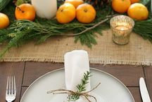 Рождественские обеденные столы
