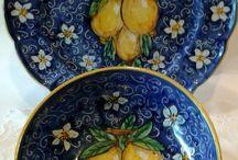 Set Piatto + Ciotola decorato a mano.Decorazione Limoni, by ilciliegio, 30,00 € su misshobby.com