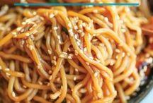 Asian noodle recipes.