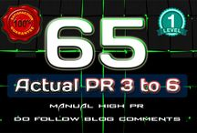 I will 65 Manual Do Follow Blog Comment Actual Page Rank 3 Up To 6 for $5 / Quality Backlinking Is The Most Important Part Of SEO, And To Do That MY Service Is Standing Right Next To You Shoulder To Shoulder, So You Can Achieve Your Goal More Easily. We Work Hard For Your Success. No Hassle Or Tension Anymore Just Hit The ORDER NOW Button For MANUAL BLOG COMMENTING SERVICE FOR HIGH PR. All Links Will Provide DO-FOLLOW Backlink For Your Website. We Make Sure All Comments Are Submitted According To GOOGLE'S Guideline,