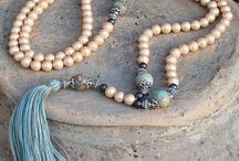 Beautiful Pearl Mala decorated with a tassel