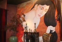 kunstbehang / Afbeeldingen van ons #kunstbehang. We hebben ruim 30.000 kunstenaars online staan uit alle mogelijke kunststromingen voor een XXL formaat aan je muur. #fotobehang #vliesbehang