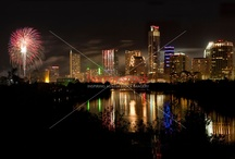 Austin, Texas New Years Eve Fireworks Display Celebration / Austin, Texas New Years Eve Fireworks Display Celebration over Lady Bird Lake has earned a reputation as one of the most unique fireworks experiences in the nation. For many years, HerronStock's New Years Eve stock images come together to showcase the New Year with style and elegance, long past the stroke of midnight.
