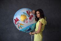 Italy Wedding Day Ideas. Balloons & Decor / Вдохновение для свадебной фотосессии в итальянском стиле. Утро невесты в стиле Италия. Итальянский девичник | Big balloon italy wedding party ideas |