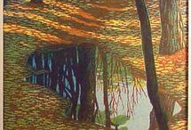 Japanese Wood Block Prints and Paintings