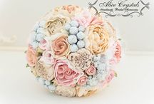 Bouquets: Fabric / Bridal bouquets made of fabric and fabric flowers. #wedding #weddingbouquet #bridalbouquet #fabricbouquet #fabricbridalbouquet #fabricweddingbouquet #bouquetalternative #bridalbouquetalternative #weddingbouquetalternative #alternativebouquet #alternativebridalbouquet #alternativeweddingbouquet