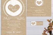 Kraft paper wedding ideas / Kraft paper wedding theme ideas