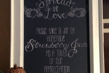 "Custom Celebration Signs / Custom chalkboard designs to add a little ""something more"" to your celebrations, events, photo shoots and business or home décor!"