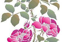 трафареты-цветы