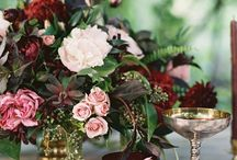Color Inspiration: Wine, Hunter Green, Bronze, and Blush