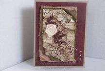 All things vintage / A collection of vintage made items:cards, frames etc