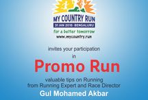 MyCountryRun 2nd Promo Run / Promo Run is a session conducted by experts for final run of My Country Run. Race director Gul Mohamed Akbar and Physio partner Dr. Zubair will offer helpful tips. We are conducting it to help runners compete better on the final running day of My Country Run on 31st Jan.