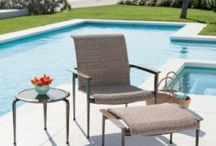 "Poolside / Pool Side: Enjoying the heat of Tucson poolside is a time honored tradition. Create that space for comfort with chairs that don't melt in the heat. House 'N Garden seeks out furniture and accessories that are ""Made for Arizona"" with long lasting color dyes and offering the best in fabrics for shade.  Pool side seating can range from a chaise lounge to stretch out after a swim to a patio table with a beautiful umbrella shade for lunch."