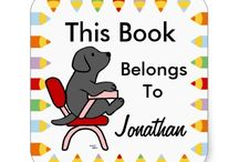 Labrador Retriever Book Labels / Cute and sweet Labrador Retriever Book Labels!