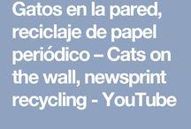 Gatos en la pared periódico