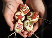Vánoční oříšky / Retro vánoční ozdoby a jiné oříškové dekorace