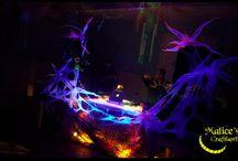 Fluo Party Decorations / Lavori di decorazione per  Fluo Party