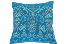 Ikat pillows for wedding