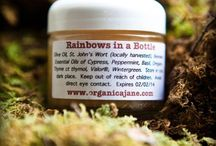 ORGANICA JANE'S SHOP / ($30.00) - Rainbows in a Bottle, 2 oz.  All-natural, high-powered salve for Pain & Inflammation, as well as Colds & Flu.  Hand blended with locally harvested and infused St. John's wort and Essential Oils.  Free shipping in U.S.  Email organicaj@yahoo.com to order.