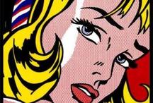 Pop Art / Here are some of the prominent Pop artists:- Eduardo Paolozzi, Richard Hamilton, David Hockney, Peter Blake, Robert Rauschenberg, Jasper Johns, Andy Warhol, Tom Wesselmann, Clars Olderburg, Jim Dine, James Rosenquist, Robert Indiana, Roy Lichenstein