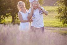 Lavender / lavender, family, sunset, family photo ideas, family portrait,