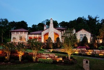 Awesome landscape lighting jobs / These are some of our select landscape lighting installations...the best in Texas.   Www.passionlighting.com