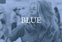 blue / by Left on Houston