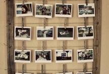Espaço criativo para fotos / Lembranças pela casa