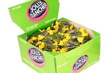 Jolly Rancher Candy / Jolly Ranchers have been around since 1949.  This classic candy comes in all shapes and sizes, from lollipops, to hard candy to chewy candy.