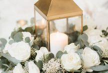 Blomster rundt bord