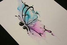 Tatuagens de aquarelas