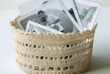 crochet baskets - πλεκτά καλάθια
