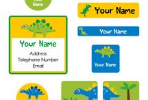 Mama Labels - Value Packs / Mama Labels produces value packs which include everything a mother with children may need. Value packs include name and contact labels for children, iron-on and stick-on clothing labels, shoe labels and labels for school supplies and toys.