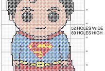Plastic Canvas Super Heros