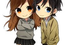 Kawaii Chibi Girl and Boy