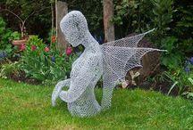 Wire Art / Chicken Wire Art Creator Ivan Lovatt / by Luanne Wright-Robinson