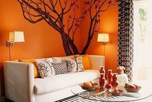 Living room- orange